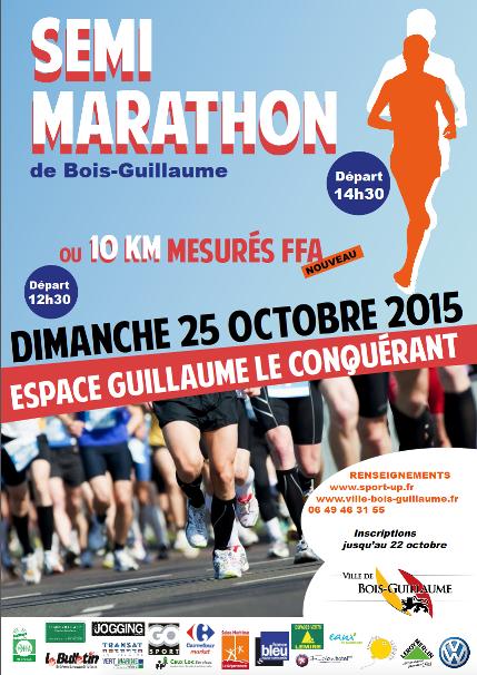 Les 10 k m et semi Marathon de Bois Guillaume ont eu lieu ce dimanche